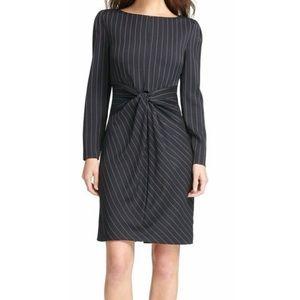 DKNY Pinstripe Twist Front Dress Size 10